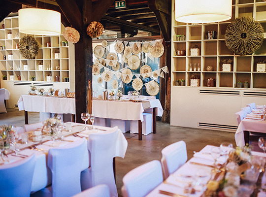 Tischdekoration und Hochzeitsdekoration, alles aus Stoff mit Kristina Krug Hochzeitsglück aus Minden