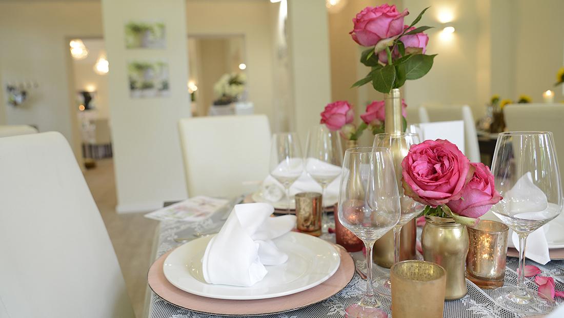 Individuelle Tischdekoration mit Hochzeitsglück Minden