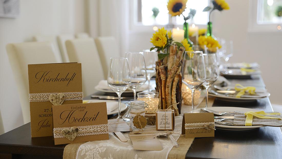 Tischdekoration Bratung, Service und Verleih vom Hochzeitsglück Minden