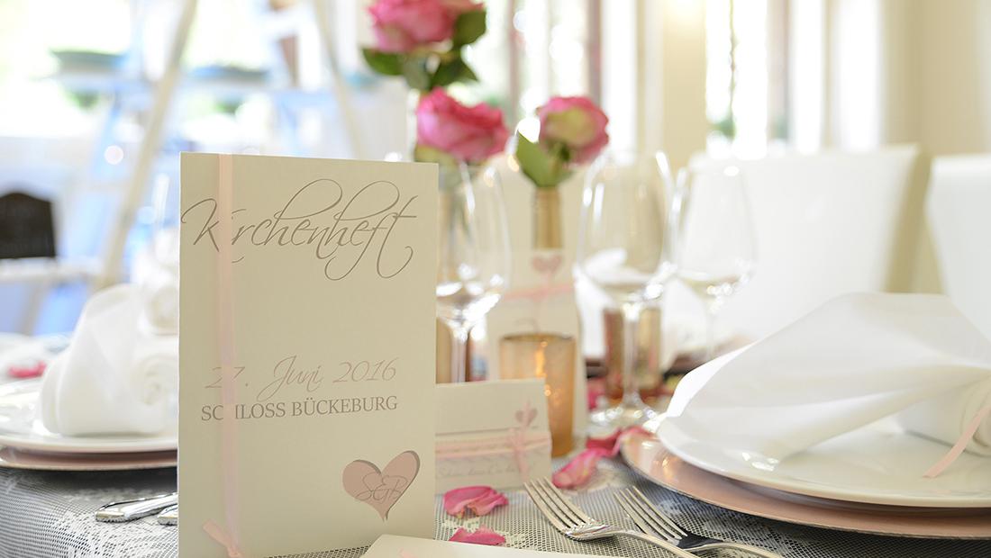 Hochzeitsglück Minden - Individuelle Tischdekoration