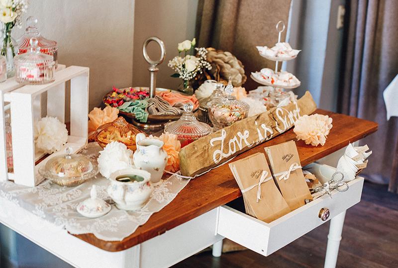Candy Bar- Hochzeitsdekoration Vintage, Shabby, Bohostyle vom Hochzeitsglück Minden, Petershagen, Herford