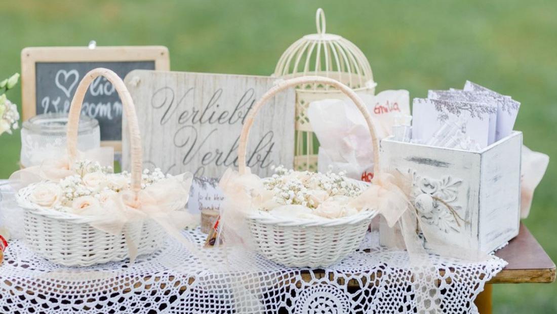 Hochzeitsdekoration für eure freie Trauung - Hochzeitsglück - Beratung, Service und Verleih
