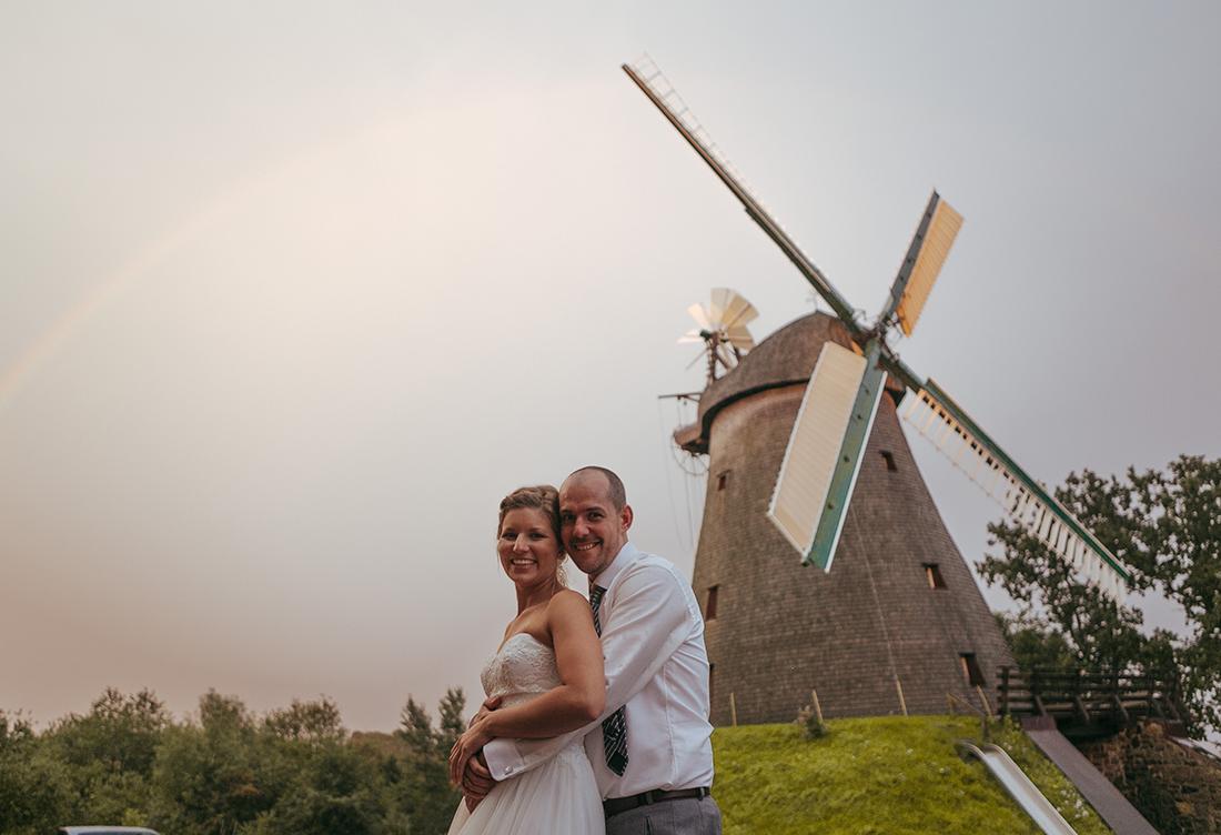 Brautpaar Kathi & Basti an der Exter-Mühle in Vlothof in der Nähe von Minden