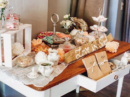 Hochzeitsdekoration Vintage, Shabby, Bohostyle