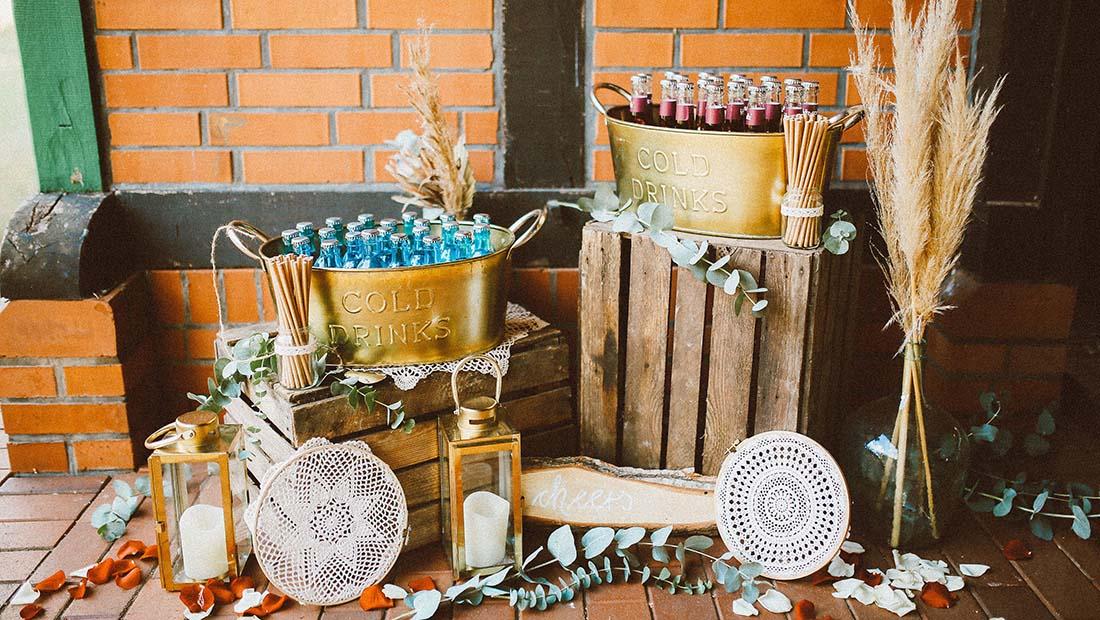 Cold Drinks Bar Hochzeitsdekoration Hochzeitsglück Minden Petershagen Uchte Schaumburg Lübbecke