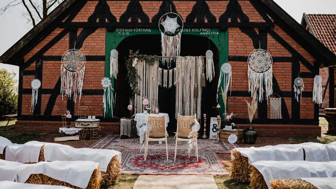 Freie Trauung Boho Vintage Hochzeit Hochzeitsglück Minden Bielefeld Herford