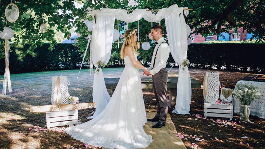 Hochzeitsglück euer Dienstleister für Hochzeitsdekoration zur freie Trauung in Minden, Bielefeld, Herford