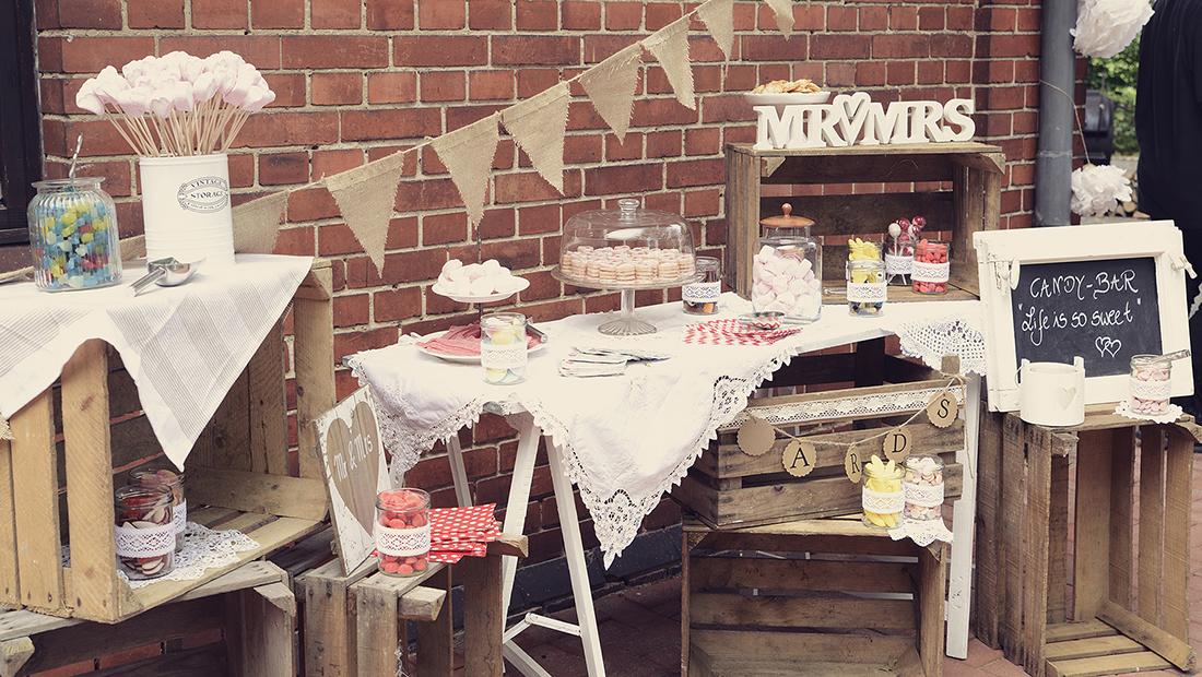 Candy-Bar ein Must Have für eure Hochzeit vom Hochzeitsglück in Minden, Lübbecke, Schaumburg, Herford und Bielefeld