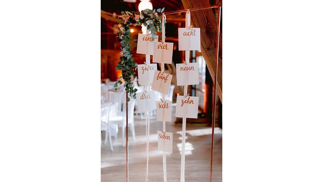 Hochzeit Sitzplan Hochzeitsdekoration Hochzeitsglück Minden