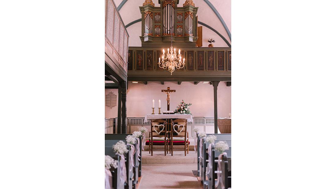 Kirchliche Trauung Deko Hochzeitsglück Minden