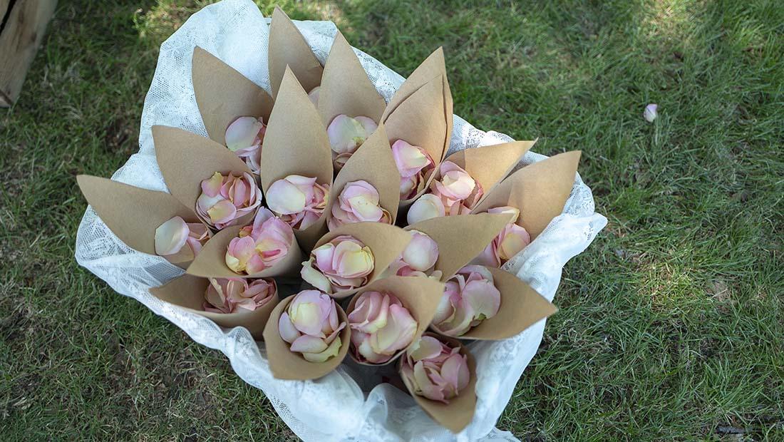 Freie Trauung Streu Blumen Hochzeitsglück Minden