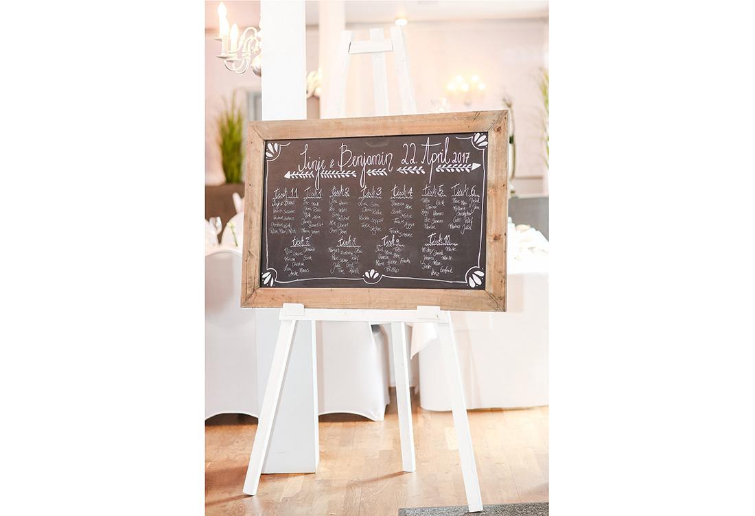 Hochzeitssitzplan vom Hochzeitsglück in Petershagen bei Minden