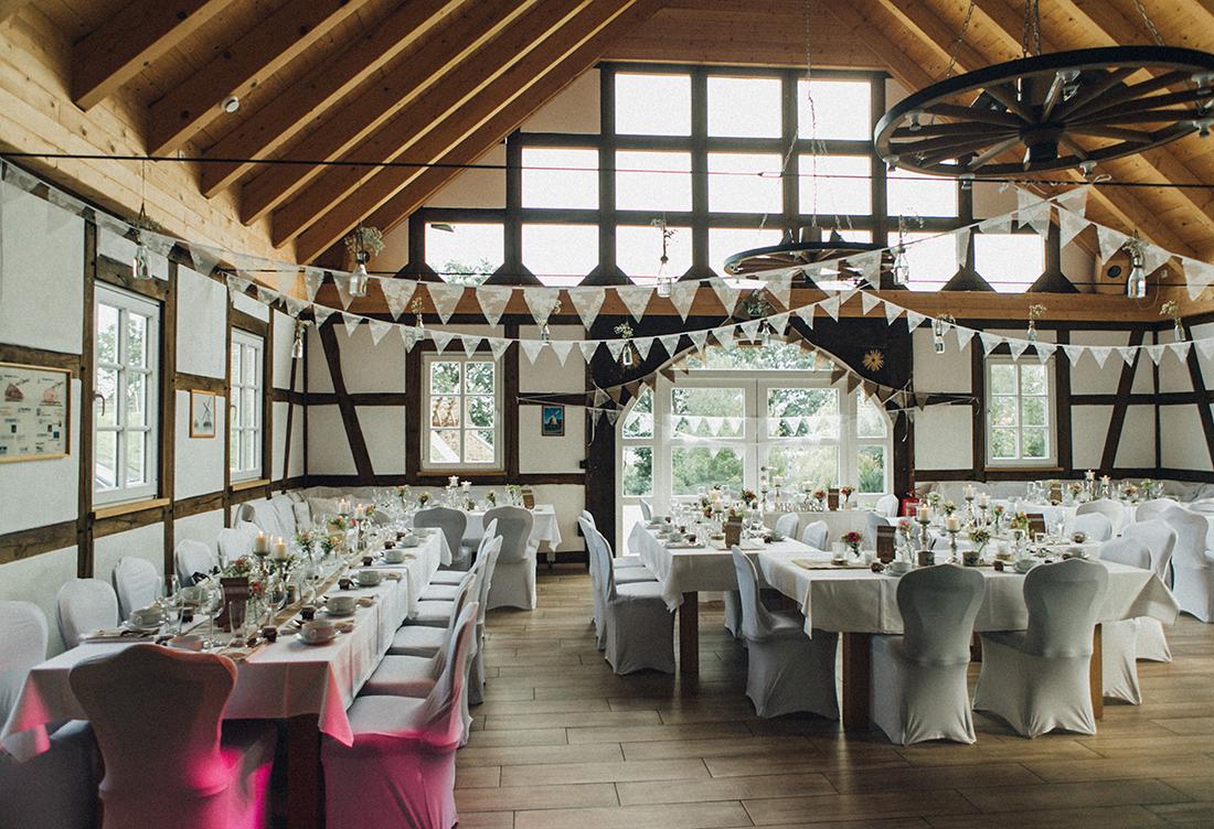 Hochzeitsdeko vom Hochzeitsglück an der Exter-Mühle in Vlothof in der Nähe von Minden