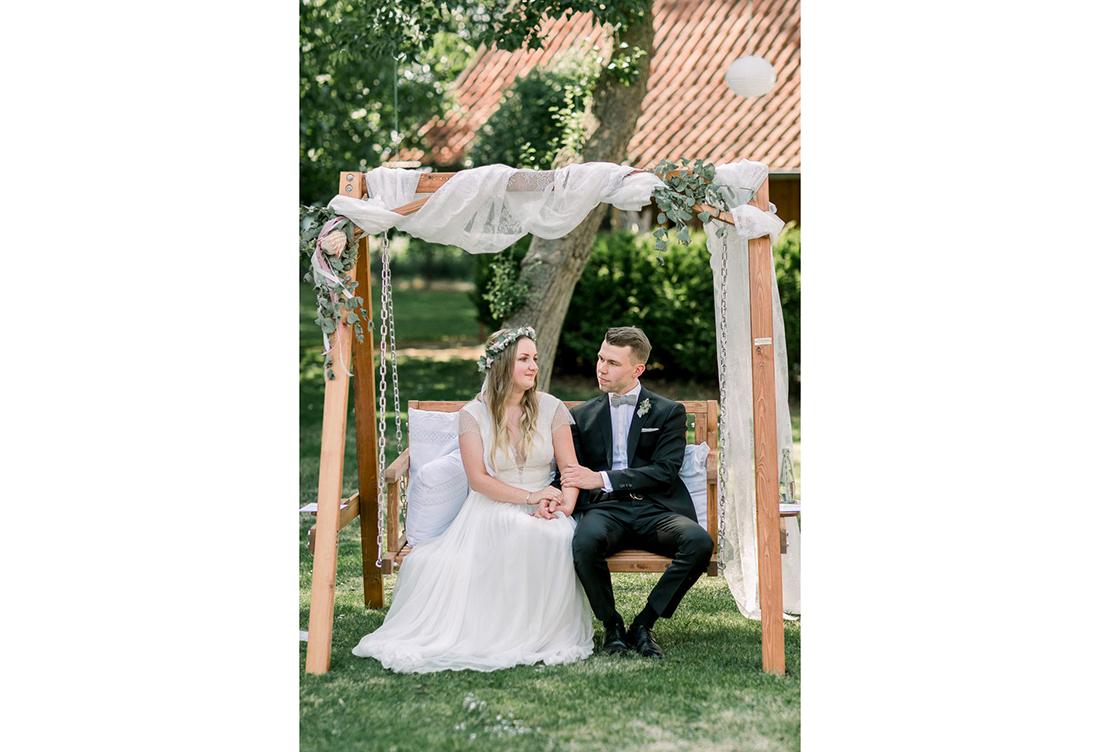 Hochzeitsdeko auf dem Gerhannfors Hof