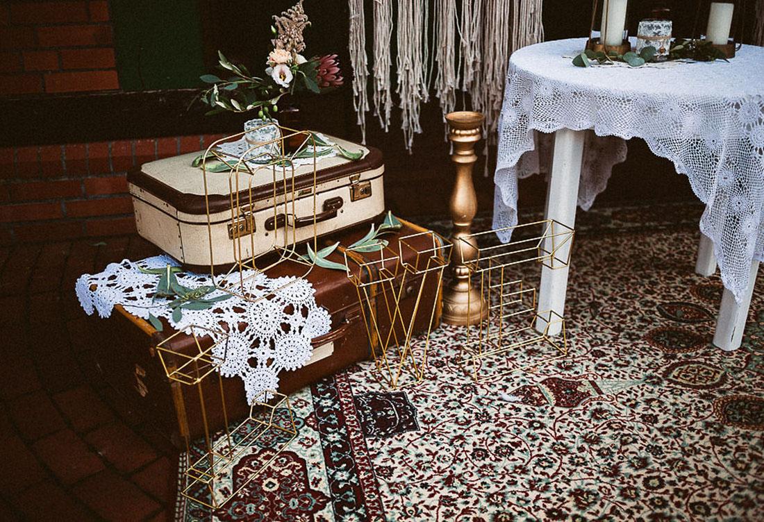Boho-Vintage Freie Trauung - Hochzeitsdekoration von Hochzeitsglück Minden