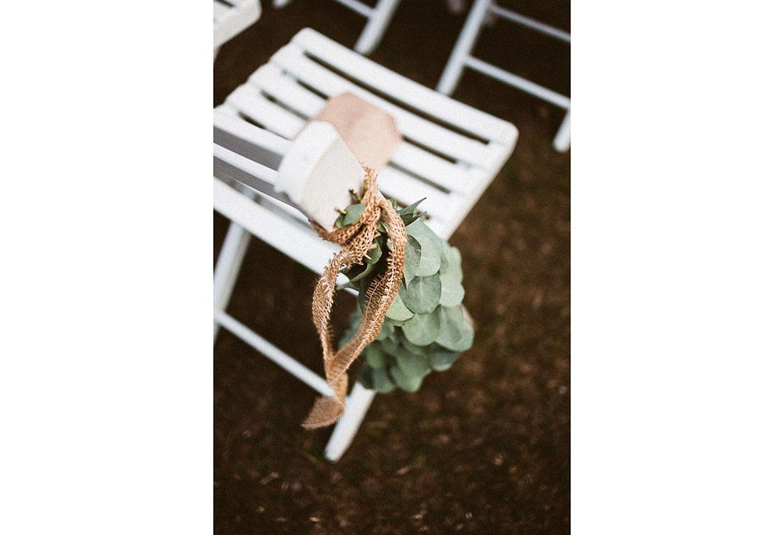 Hochzeitsdekoration zur freien Trauung bei dem Hof Frien vom Hochzeitsglück
