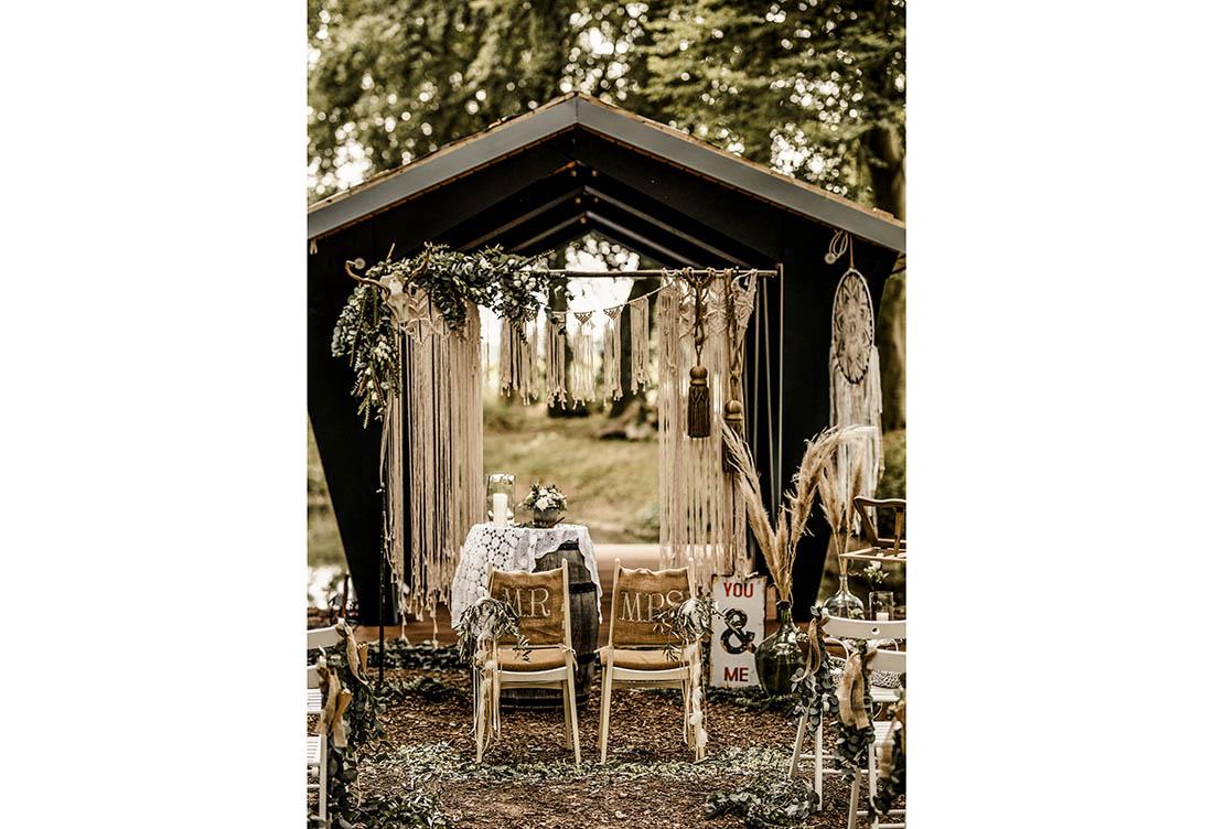 Freie Trauung Häserhof Eventlocation - Hochzeitsdeko von Hochzeitsglück Minden