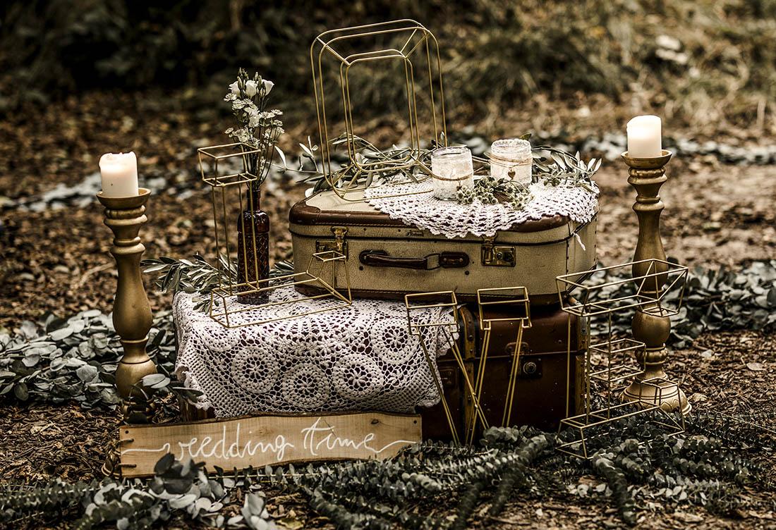 Freie Trauung Häserhof Eventlocation mit Vintage- und Boho-Elementen Hochzeitsdekoration vom Hochzeitsglück bei Uchte im Raum Minden