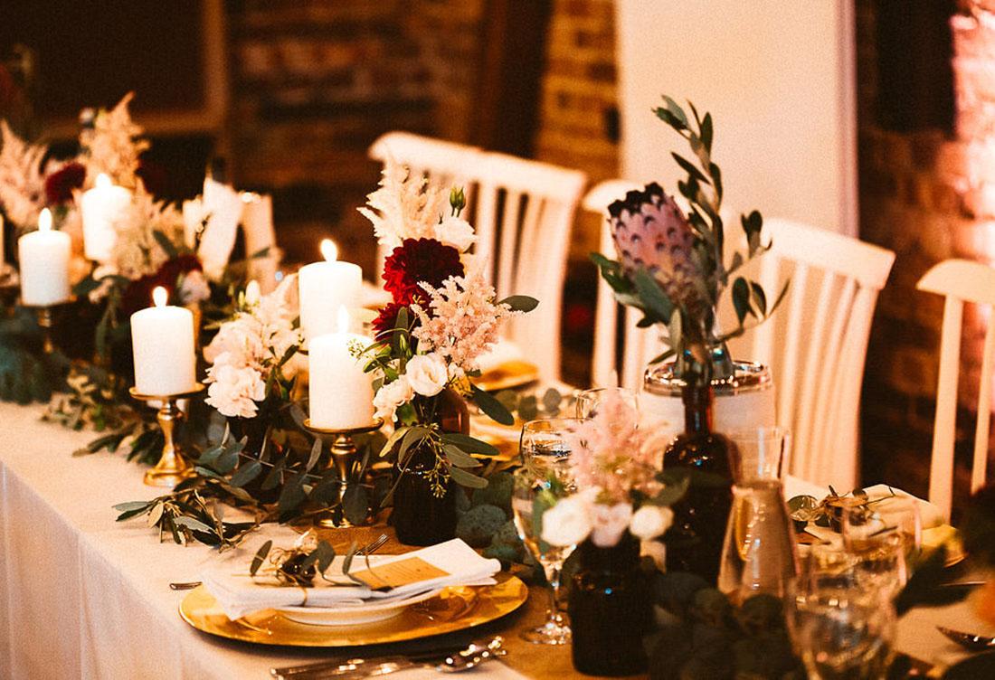 Hochzeitsdekoration vom Hochzeitsglück auf dem Hof Frien bei Uchte im Raum Minden