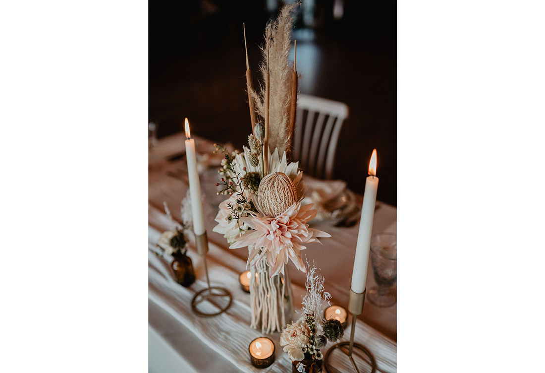 Tischdeko Winterhochzeit vom Hochzeitsglück aus Minden auf dem Hof Frien bei Uchte